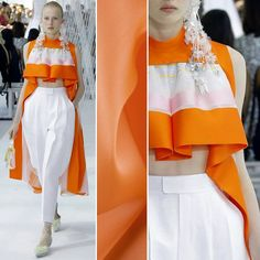 Delpozo is all about the structured garments! How about you? Try out a silk satin face organza for extra volume; item #PV4000-165 on moodfabrics.com.  #fabric #fabricshopping #moodfabrics #mood #fashion #instafashion #lovetosew #sewing #fashiondesign #fall #autumn #inspiration #trends #colorful #color #colors #highfashion #eveningwear #formal #gown #luxury #garmentdistrict #designer #runway #delpozo