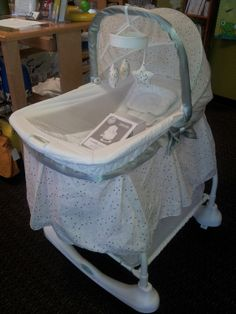 Kolcraft Bassinet | Treat your baby to superior infant comfort with the Kolcraft Bassinet and Incline Sleeper. The 2-in-1 Bassinet and Incline Sleeper is the only bassinet that gives parents the option to position infants on an angle for more natural sleep. Convert it into a rocking bassinet. Make sure to click the link below to see more great merchandise in store now!  | LilyPads - Lincoln , NE