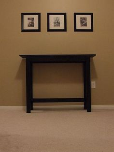 DIY - Simple, Cheap and Easy Console Table | Ana White