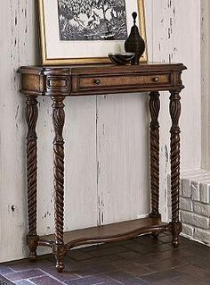 Compact and ideal for limited spaces, the Foster Console Table boasts a mahogany finish that blends in stylishly with your existing decor.