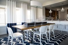 Nautical Interior Design Project of a Living Room & Dining Room by Canadian…