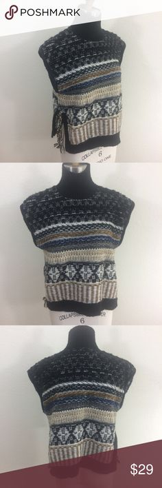 Madewell Side Tie Sweater Vest Condition  Item is in good pre-owned condition. Item shows light wear with no stains or holes.  Measurements - Items are measured in inches, flat and unstretched.  Size: S Bust: 20 Length: 22  Description from Madewell website PRODUCT DETAILS A superfresh Fair Isle turtleneck sweater-vest, made for layering. Hand-braided ties on either side add a vintage vibe.   True to size. Nylon/merino wool/poly/alpaca. Dry clean. Import. Madewell Sweaters Cowl & Turtlenecks