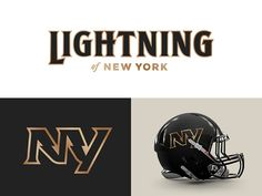 New York Lightning designed by Zilligen Design Studio. Connect with them on Dribbble; the global community for designers and creative professionals. Sports Fonts, Sports Decals, Sports Logo, Football Uniforms, Football Helmets, Logo Basketball, International Football, Sports Graphics, Cool Logo