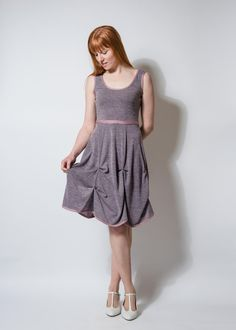 Kleid apricot knielang