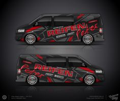 The approved branding wrap design for VW T5 FL for Reifen Peter