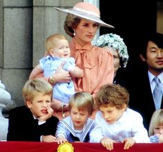 Princess Diana Prince William and Prince Harry Photo (C) Getty Images
