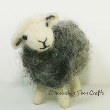 Herdwick sheep needle felting kit for beginners - plus online video tutorials - perfect creative gift for sheep lovers Herdwick Sheep Needle Felting Kit ~ needle felted sheep ~ felting starter kit ~ Mother's Day gift Needle Felting Kits, Needle Felting Tutorials, Needle Felted Animals, Wet Felting, Felt Animals, Christmas Needle Felting, Beginner Felting, Sheep Crafts, Felt Crafts