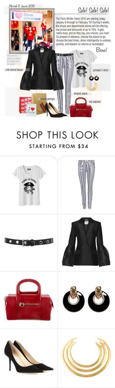 """Mon Style № 6 - January 6, 2016"" by ann4-kar1na ❤ liked on Polyvore featuring Paige Denim, Miss Selfridge, Roksanda, Aime, Salvatore Ferragamo, Kenneth Jay Lane, Jimmy Choo and Aurélie Bidermann"