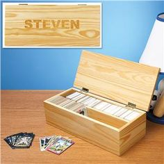 Sports Card Storage Box - Personalized Gifts for Kids | Lillian Vernon