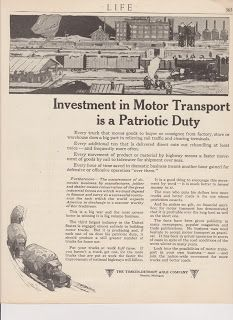 Free Vintage Clipart, Vintage Magazine Ads and Vintage Artwork Perfect for Home & Man-Cave Decor: Vintage 1918 Timken Axle Company Investment in Motor Transport Original Print Ad