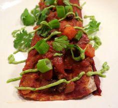 ... Potato and Black Bean Enchiladas with Avocado-Cilantro Cream Sauce