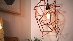 Watch HGTV's Crafternoon as Marianne demonstrates how to make a DIY freeform geometric pendant light from copper tubing.