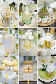 Love the idea of having appetizers as center pieces! Keeps guest from getting aggravated!