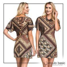 Ainda não sabe ainda qual vai ser a boa de hoje? O look você já tem: este vestido maravilindo da coleção Tropical Inverno 2017. <3