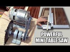 Table Saw - How to make Powerful Table Saw - 12volt - Güçlü Tezgah testere yapımı - YouTube