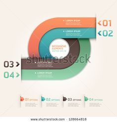 Modern arrow circle step up options banner. Vector illustration. can be used for workflow layout, diagram, number options, web design, infographics. by graphixmania, via ShutterStock