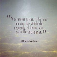 """#MiCorazónTeQuiere """"Me rondan recuerdos, mi alma aún no se cansa, mi corazón te quiere"""". > Comparte y haz clic en el siguiente enlace para leer toda la letra: www.pierehantoni.com #Poesia"""