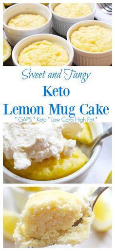 Keto Lemon Mug Cake Recipe  #ketorecipes #lowcarb #healthyrecipes