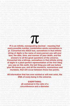 Science or mathematics? Numero Pi, Math Formulas, E Mc2, Quantum Physics, Sacred Geometry, Mind Blown, Good To Know, Physique, Einstein