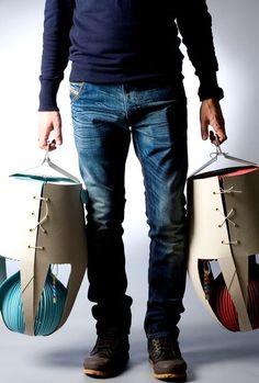 Zagreb, 25.01.2012 - Davorin Kulas dizajner lampi od kartona