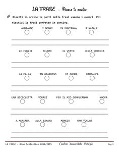 La frase | PDF to Flipbook Learning Italian, Grammar, Back To School, Coding, English, Education, Geography, Alphabet, Italian Language
