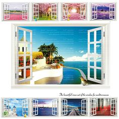 Fake Window Wall Decal //Price: $ 11.95 & FREE shipping //  #walldecal #wallart #homedecoration
