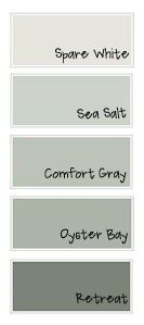 Peaceful, restful. Gray with blue/greeen undertones. Sherwin Williams sea salt is a great bedroom color!