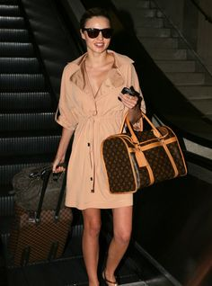 Miranda Kerr - Trench Coat and Louis Vuitton