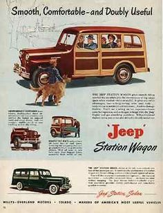 "paperink id: ads6511 Jeep Station Wagon 1949 AD Willys Overland Automobile Car Auto ORIGINAL PERIOD Magazine Advertisement AD measuring approximately 10.5"" x 13.5"" AD is in Good to Very Good Condition"