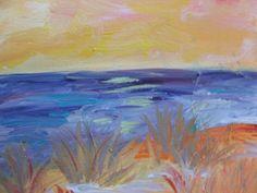 Colorful Beach painting by Ann Lutz. #Beach #Gem #Art  www.gemspringwater.com