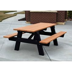 This Jayhawk Plastics Recycled Plastic A Frame Picnic Table Portable Can  Withstand The Elements Easily And Is Maintenance Free. This Recycled  Plastic Picnic ...
