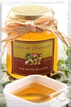 Gelée de rhubarbe à la vanille Bourbon Vanille Bourbon, Compote Recipe, Cuisine Diverse, Gourmet Gifts, Healthy Baking, Kids Meals, Breakfast Recipes, Food And Drink, Homemade