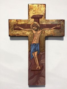 The Crucifixion of Jesus -handpainted Greek orthodox Russian byzantine icon-gold Crucifixion Of Jesus, Byzantine Icons, Crosses, Greek, Symbols, Christian, Hand Painted, Gold, Ebay