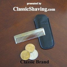 Natural Horn Beard Comb #M5