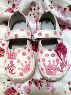 Custom Hand Painted Toddler Shoes by sweetfeetbybrit on Etsy, $40.00