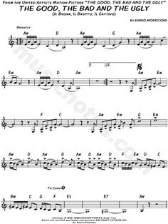 "Ennio Morricone ""The Good, the Bad and the Ugly"" Sheet Music (Piano Solo) - Download & Print"