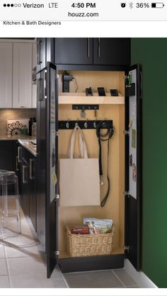 to Convert Your Closet Into Something Awesome traditional kitchen 5 Ways to Convert Your Closet Into Something Awesome ---A charging station!traditional kitchen 5 Ways to Convert Your Closet Into Something Awesome ---A charging station! Kitchen Redo, Kitchen Pantry, Kitchen And Bath, Kitchen Ideas, Kitchen Designs, Hidden Kitchen, Cheap Kitchen, Narrow Kitchen, Best Kitchen Layout