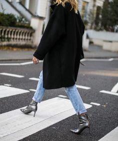 Silver Boots + Denim   Street Style Inspiration http://fancytemplestore.com