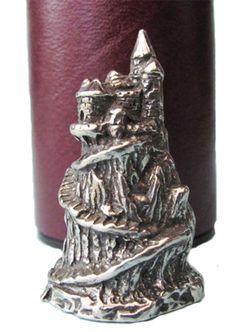 castle polished pewter thimble