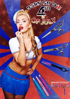 Born on the 4th of July!!! Are you primped and prepped for your 4th of July celebrations? Do it vintage pinup style! #BodyToolz #beauty #vintage #fourthofjuly #July4th #hair #nails www.bodytoolz.com