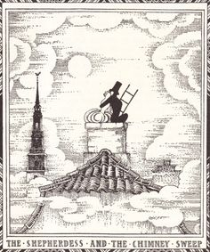 "enchantingimagery: "" The frontispiece by Kay Nielsen to the fairy tale The Shepherdess and the Chimney Sweep by Hans Christian Andersen. My scan. Kay Nielsen, Hans Christian, Botanical Illustration, Illustration Art, Book Illustrations, Andersen's Fairy Tales, Chimney Sweep, Pre Raphaelite, Impressionist Art"