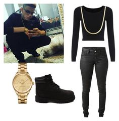 """""""Kevin Alston """" by misspurty ❤ liked on Polyvore featuring Acne Studios, Timberland and Lacoste"""