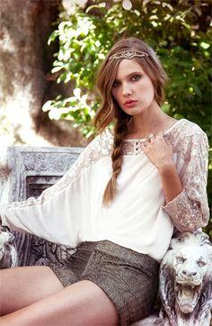Love the feminine details on this dolman top | Ella Moss