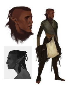 lgions:i've been looking at the da:i concept art and this mess happened for solas ;;a;; 30 mins/2 hour sketches