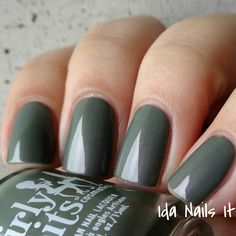 Ida Nails It: Girly Bits Hocus Pocus Collection: Swatches and Review. Dead Man's Toe is an army green crelly with pink and gold shimmer. Available at www.girlybitscosmetics.com