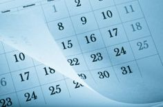Organize your calendar and your schedule