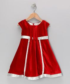 Carefully crafted from a vintage-inspired velour fabric, this dress will give any girl's closet a timeless touch of cheer. Boasting pretty pleats, silky soft lining and a hidden back zipper, this piece brings to life beautiful dreams from bygone days.