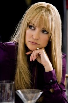 Kate Hudson in Bride Wars hair. Purple looks so good on blondes.I always get compliments when I wear it