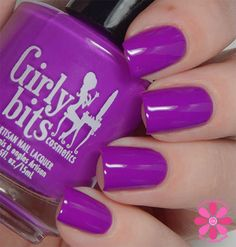 Girly Bits - 'Hip Hoop Hurray!' A vibrant violet purple neon creme {Hoop! There It IS collection} Available April 19th www.girlybitscosmetics.com