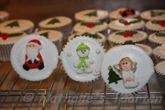 christmas cupcakes by claudette